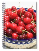 Cherries In Blue Bowl Spiral Notebook