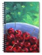 Cherries On A Blue Plate Spiral Notebook