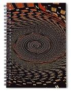 Cherry Basket Weaving Abstract Spiral Notebook