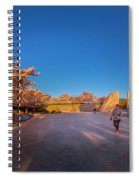 Cherry Blossom At The Mlk Monument Spiral Notebook