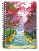 Cherry Blossom Lane Spiral Notebook