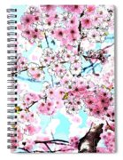 Cherry Blossom Watercolor Spiral Notebook