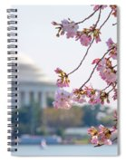 Cherry Blossoms And Jefferson Memorial Spiral Notebook