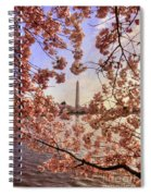 Cherry Blossoms And The Washington Monument Spiral Notebook