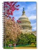 Cherry Blossoms At The Capitol Spiral Notebook