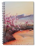 Cherry Blossoms In The Mist - Revisited Spiral Notebook
