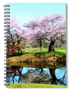Cherry Trees In The Park Spiral Notebook