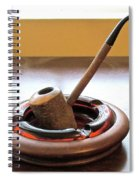 Cherrywood Freehand Pipe Spiral Notebook