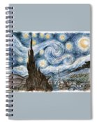 Cher's Stary Night Spiral Notebook