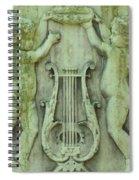 Cherubs In Moss Green Spiral Notebook