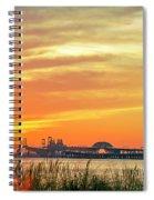 Chesapeake Bay Bridge Sunset Spiral Notebook