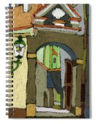 Chesky Krumlov Old Street Latran  Spiral Notebook