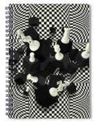 Chessboard And 3d Chess Pieces Composition Spiral Notebook