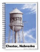 Chester Water Tower Poster Spiral Notebook
