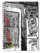 Chesterfield And Lucky Strike Cigarette Signs S. Meyer Avenue Barrio, Tucson, Az 1967-2016 Spiral Notebook
