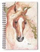 Chestnut Arabian Horse 2016 08 02 Spiral Notebook