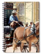 Chestnut Horses Pulling Carriage Spiral Notebook