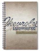 Chevrolet Camaro Badge Spiral Notebook