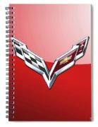 Chevrolet Corvette - 3d Badge On Red Spiral Notebook