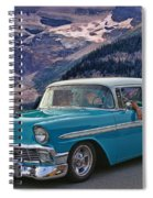 Chevy At Lake Louise Spiral Notebook