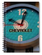 Chevy Neon Clock Spiral Notebook