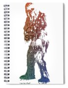 Chewbacca Typography Spiral Notebook