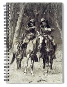 Cheyenne Scouts Patrolling The Big Timber Of The North Canadian, Spiral Notebook