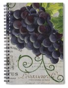 Vins De Champagne 2 Spiral Notebook