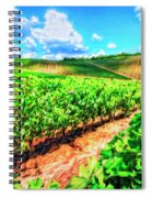 Chianti Vineyard In Tuscany Spiral Notebook