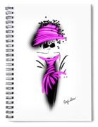 Chic In Pink Silk Couture  Spiral Notebook