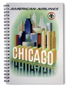 Chicago American Airlines 1950 Spiral Notebook