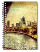 Chicago Approaching The City In June Textured Spiral Notebook