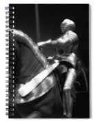 Chicago Art Institute Armored Knight And Horse Bw 01 Spiral Notebook