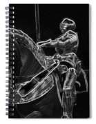 Chicago Art Institute Armored Knight And Horse Bw Pa 02 Spiral Notebook