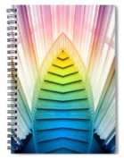 Chicago Art Institute Staircase Pa Prism Mirror Image Vertical 02 Spiral Notebook