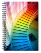 Chicago Art Institute Staircase Pa Prismatic Vertical 02 Spiral Notebook