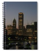 Chicago At Night Spiral Notebook
