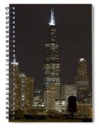 Chicago At Night I Spiral Notebook