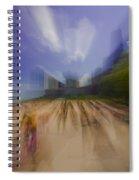 Chicago Beach Zoom Blur Spiral Notebook