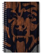 Chicago Bears Wood Fence Spiral Notebook