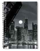 Chicago Black And White Nights Spiral Notebook
