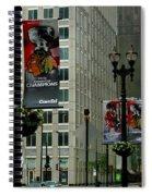 Chicago Blackhawk Flags Spiral Notebook
