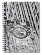 Chicago Board Of Trade Bw Spiral Notebook