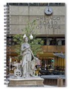 Chicago Board Of Trade Signage Spiral Notebook