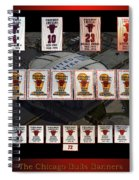 Chicago Bulls Banners Collage Spiral Notebook