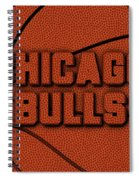 Chicago Bulls Leather Art Spiral Notebook