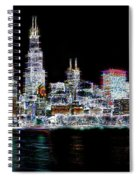 Chicago By Night Spiral Notebook