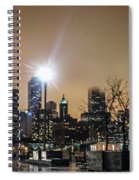 Chicago City At Night Spiral Notebook