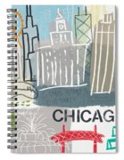 Chicago Cityscape- Art By Linda Woods Spiral Notebook