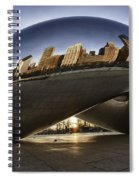 Chicago Cloud Gate At Sunrise Spiral Notebook
